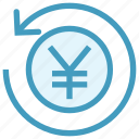 coin, payment, refresh, reload, sync, turnover, yen icon