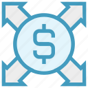 affiliate, arrows, banking, business, currency, dollar, marketing icon
