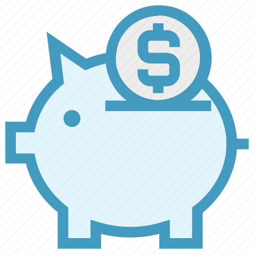 coin, money, money saving, pig, piggy, piggy bank, saving icon
