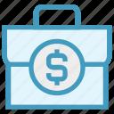 bag, brief case, cash bag, currency bag, dollar case, finance, money bag icon