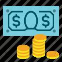 bank, cash, coin, dollar, earn, finance, money icon