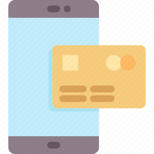 banking, credit card, mobile, online, payment, smartphone, technology icon