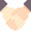 agreement, business, deal, handshake, partnership, success, team icon