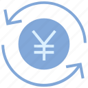 arrows, cash, coin, currency, financial, money, yen icon