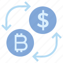 arrows, bitcoin, coins, currency, dollar, exchange, money