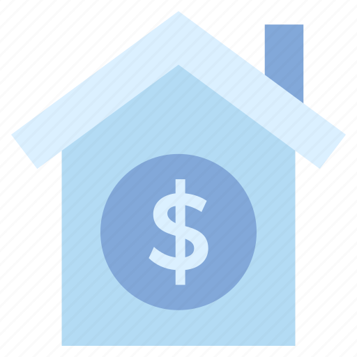 dollar, finance, home, house, insurance, property value icon