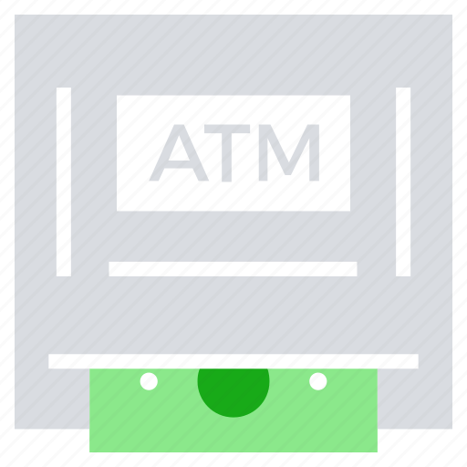 atm machine, bank, cash, device, money, money machine icon
