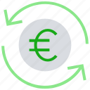 arrows, cash, coin, currency, euro, financial, money icon