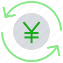 arrows, cash, coin, currency, financial, money, yen