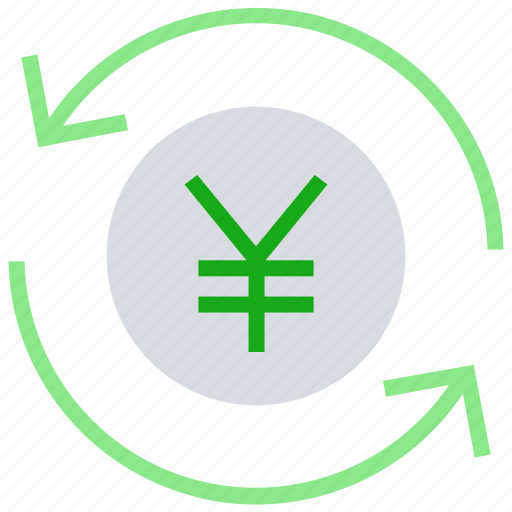 arrows, cash, coin, currency, financial, money, yen icon