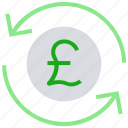 arrows, cash, coin, currency, financial, money, pound