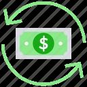 arrows, cash, dollar, dollar note, finance, money, payment