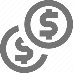coin, coins, dollar, money icon