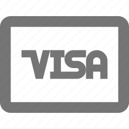 card, credit, debit, finance, payment, remote, visa icon