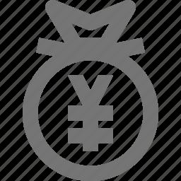 bag, money, yen icon