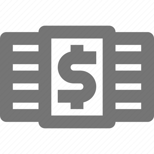 cash, currency, dollar, finance, money, payment, stack icon