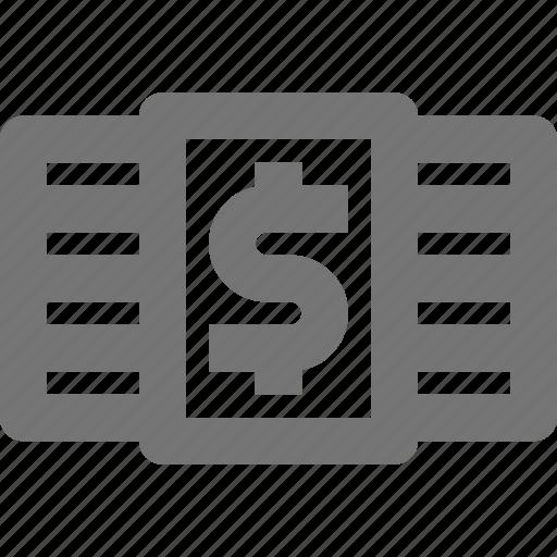 dollar, money, stack icon