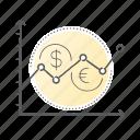 chart, diagram, financial, statistics, stock icon
