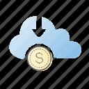 cloud, computing, crowdfunding, network, web icon
