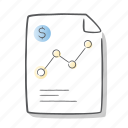 chart, diagram, financial, graph, report icon