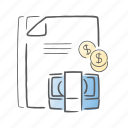 analytics, financial, money, report, statistics icon
