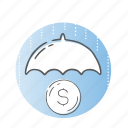 investment, protection, safety, security, shield icon