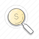 finder, money, payment, zoom icon
