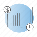 clock, currency, money, progress, time icon