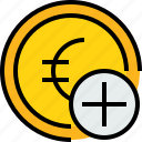 add, bank, banking, cash, coin, currency icon