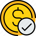 bank, banking, cash, check, coin, currency icon