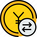 bank, banking, cash, coin, currency, exchange icon