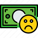bad, bank, banking, bill, cash, currency, money icon