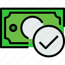 bank, banking, bill, cash, check, currency, money icon