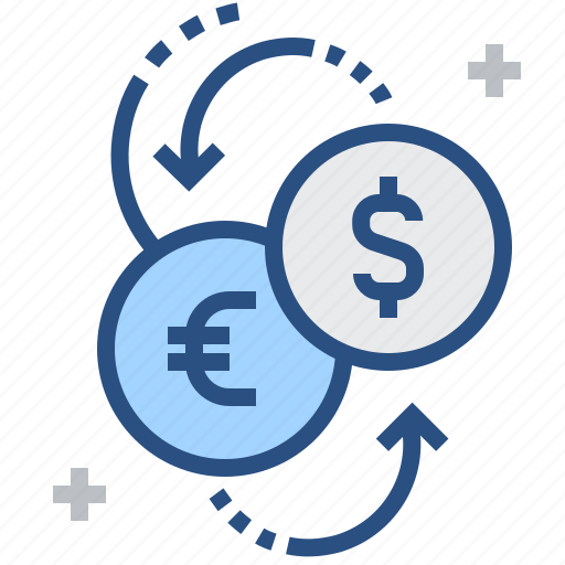 change, converter, currency, dollar, euro, exchange, financial icon