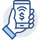 banking, fee, finance, mobile, non-cash, payment, phone icon