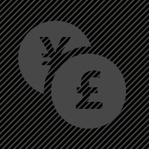 coin, fund, money, pound, yen icon