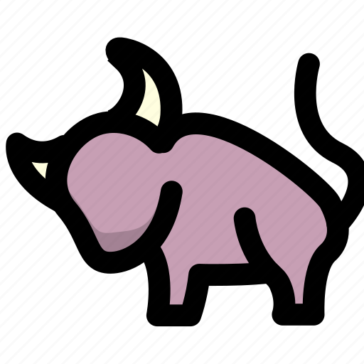 cattle, finance, stock icon