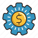 cog, currency, make, management, money icon