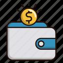 coin, dollar, money, savings, wallet