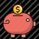 bank, coin, piggy, savings