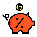 account, bank, deposit, save, saver, savings icon