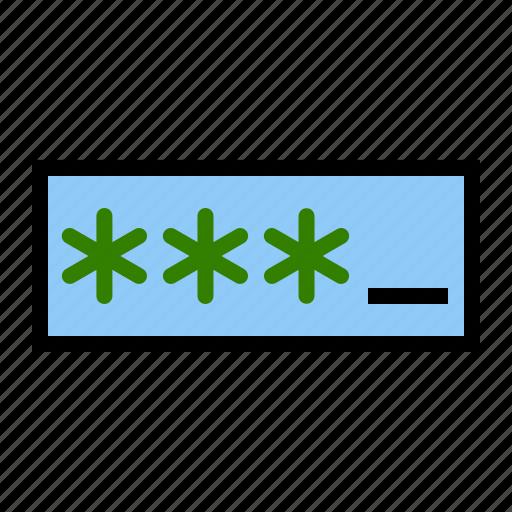 bank, enter, key, login, password icon