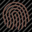 bank, fingerprint, login, password icon