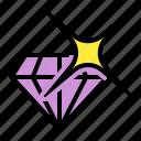 bank, diamond, gemstone, twinkling icon