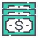 bill, currency, dollar, money, note, pay, payment icon