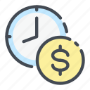 coin, dollar, fast, money, pay, payment, time icon