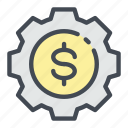 change, coin, dollar, gear, money, options
