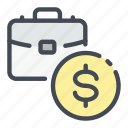 case, suitcase, business, money, dollar, coin