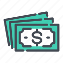 cash, currency, dollar, money, note, pay, payment icon