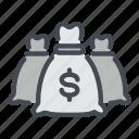 bag, bank, banking, capital, dollar, money icon
